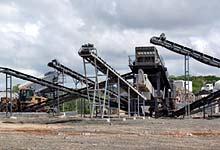 时产600-700吨的玄武岩破碎